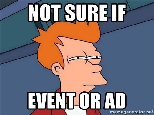 Futurama Fry - not sure if event or ad