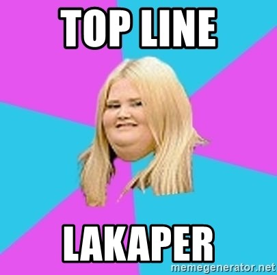 Fat Girl - top line lakaper