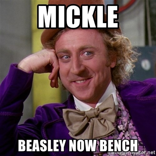 Willy Wonka - Mickle Beasley now bench