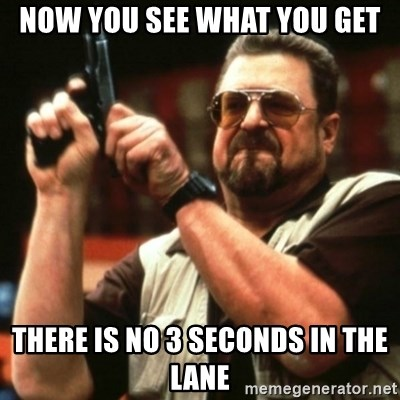 john goodman - now you see what you get there is no 3 seconds in the lane