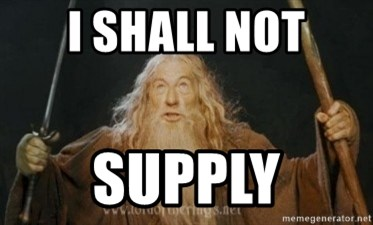 Gandalf - I SHALL NOT SUPPLY