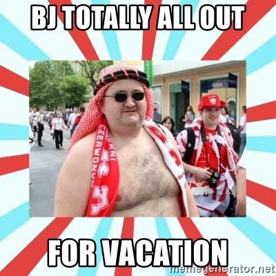 Kibic - bj totally all out for vacation