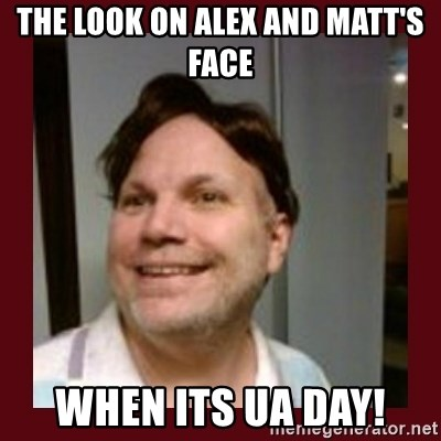 Free Speech Whatley - The look on Alex and Matt's Face When its UA day!