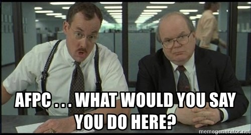 Office space -  AFPC . . . WHAT WOULD YOU SAY YOU DO HERE?