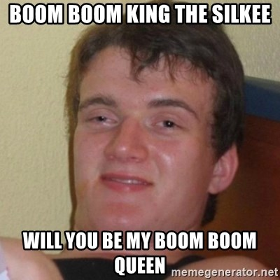 Really Stoned Guy - BOOM BOOM KING THE SILKEE WILL YOU BE MY BOOM BOOM QUEEN
