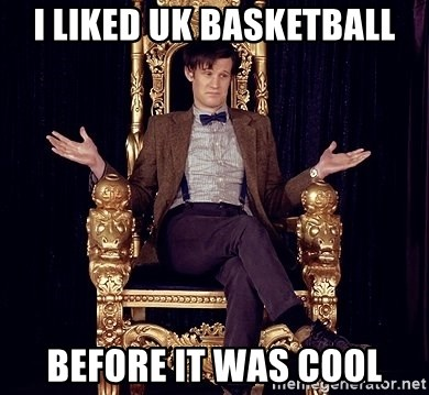 Hipster Doctor Who - I liked uk basketball before it was cool