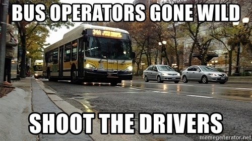 Thanks bus lanes! - Bus Operators gone wild Shoot the drivers