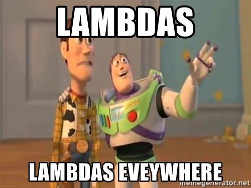 X, X Everywhere  - Lambdas Lambdas eveywhere