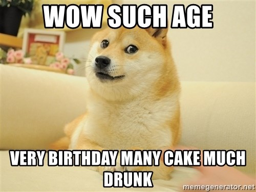 so doge - wow such age very birthday many cake much drunk