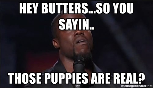 Kevin Hart Face - Hey Butters...So you sayin.. Those puppies are real?