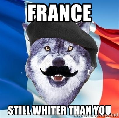 Monsieur Le Courage Wolf - france  still whiter than you