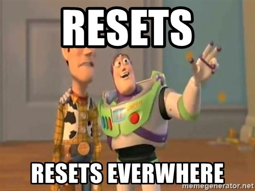 X, X Everywhere  - resets Resets Everwhere