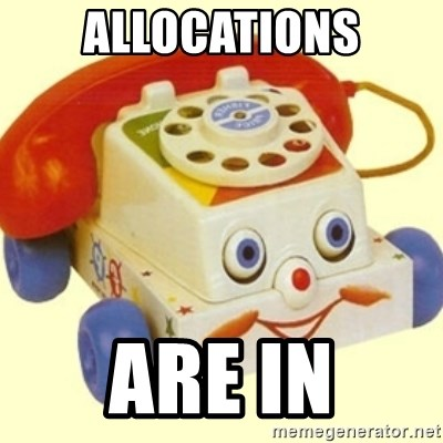 Sinister Phone - Allocations are in