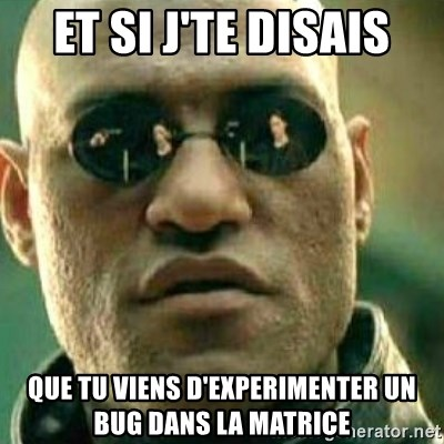 What If I Told You - Et si j'te disais Que tu viens d'experimenter un bug dans la matrice