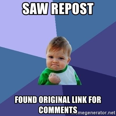 Success Kid - Saw Repost found original link for comments