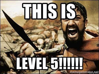 This Is Sparta Meme - This is Level 5!!!!!!