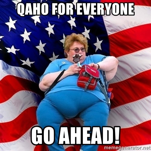 Obese American - qaho for everyone Go ahead!