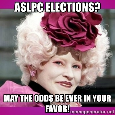 hunger games effie - aslpc elections? may the odds be ever in your favor!