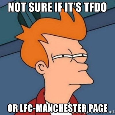 Not sure if troll - Not sure if it's TFDO or lfc-manchester page