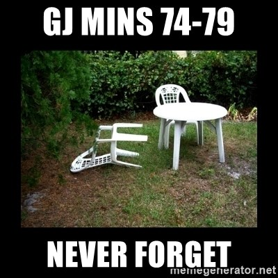 Lawn Chair Blown Over - GJ mins 74-79  never forget