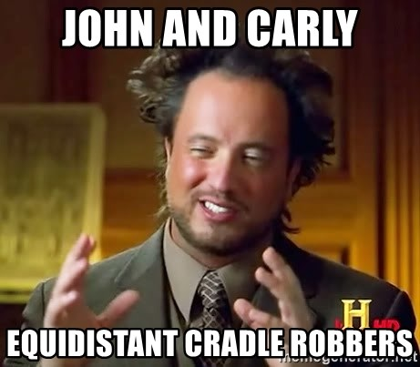Ancient Aliens - John and Carly Equidistant cradle robbers
