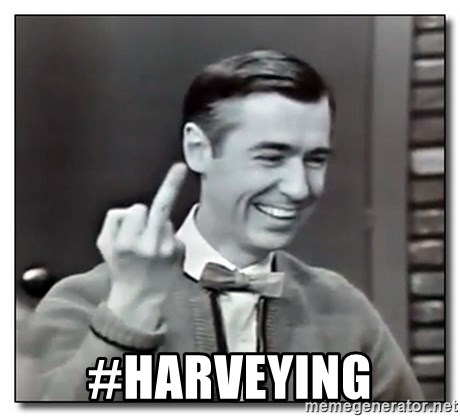 Mr Rogers gives the finger -  #HARVEYING
