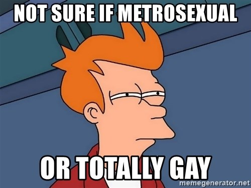 Futurama Fry - not sure if metrosexual or totally gay