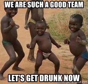 african children dancing - we are such a good team let's get drunk now
