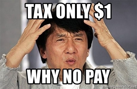 Jackie Chan - Tax only $1 Why no pay