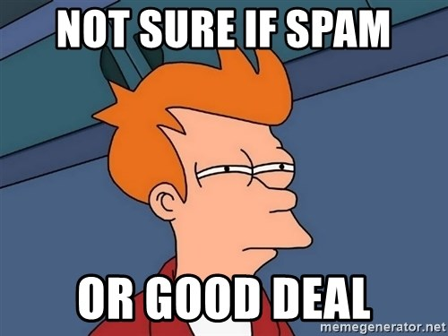 Futurama Fry - not sure if spam or good deal