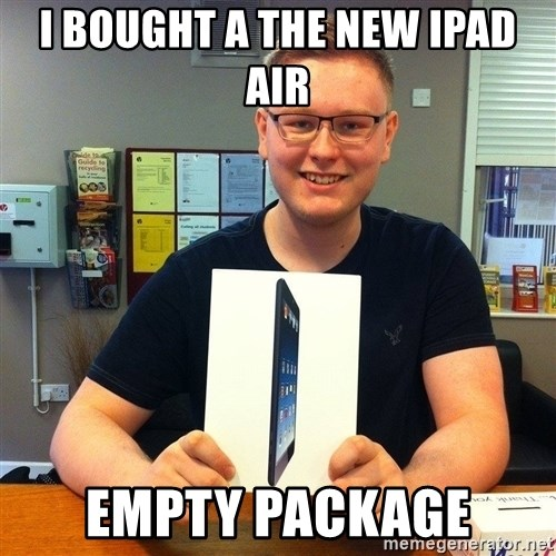 Enthusiastic Apple NERD haha - i bought a the new ipad air empty package