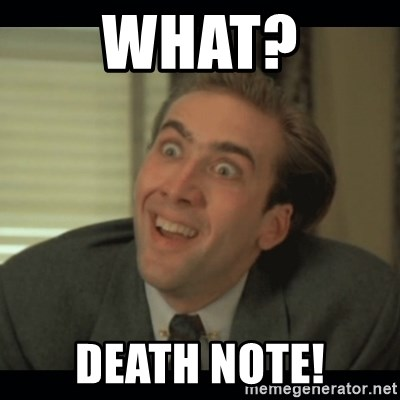 Nick Cage - WHAT? DEATH NOTE!
