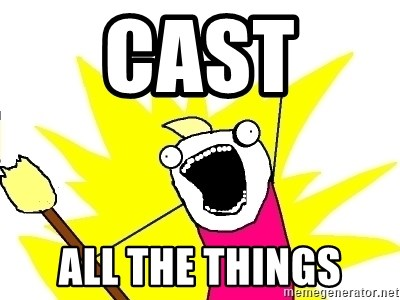 X ALL THE THINGS - Cast  all the things