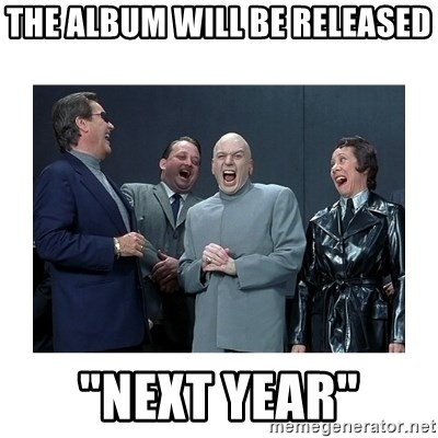 """Dr. Evil Laughing - The album will be released """"Next year"""""""