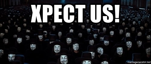 V For Vendetta Revolution Anonymous - Xpect us!