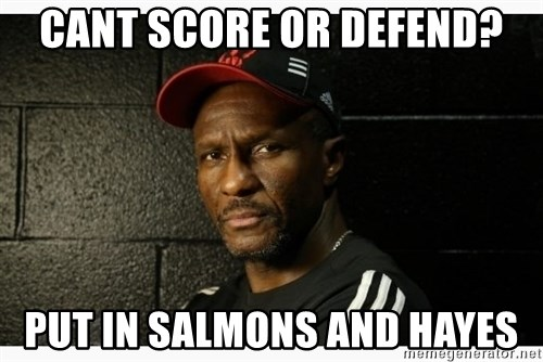 Dwane Casey's Guide to Smallball - Cant score or defend? put in salmons and hayes