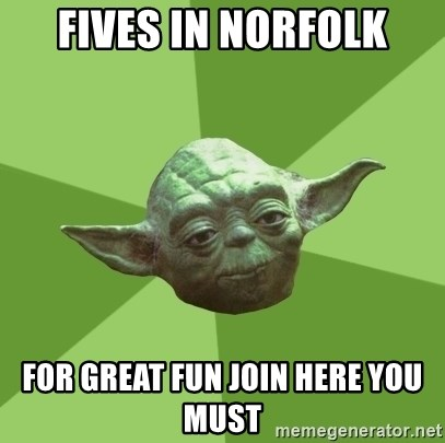 Advice Yoda Gives - fives in norfolk for great fun join here you must