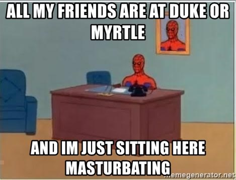 Spiderman Desk - All my friends are at duke or myrtle and im just sitting here masturbating