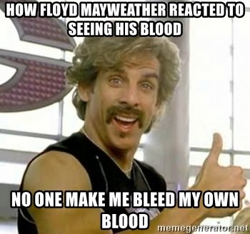 White Goodman - How Floyd Mayweather reacted to seeing his blood No one make me bleed my own blood