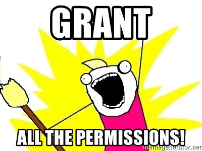 X ALL THE THINGS - GRANT ALL THE PERMISSIONS!