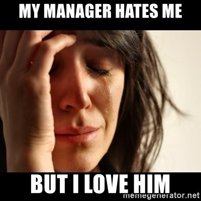 crying girl sad - my manager hates me but i love him