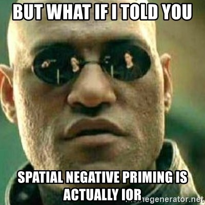 What If I Told You - but what if i told you spatial negative priming is actually iOR