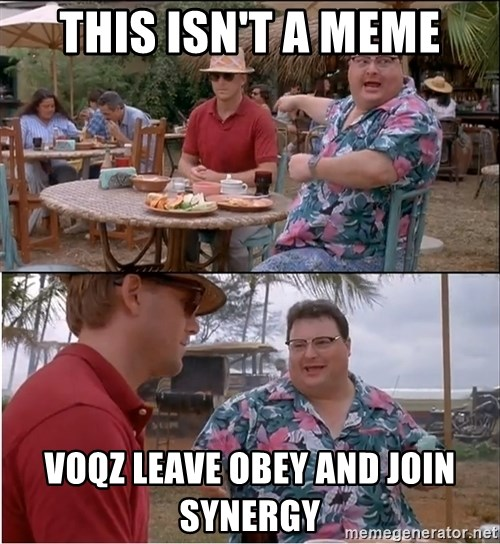 See? Nobody Cares - this isn't a meme voqz leave obey and join synergy