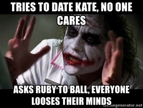 joker mind loss - Tries to date kate, No one cares Asks ruby to ball, everyone looses their minds