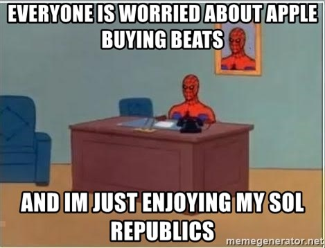 Spiderman Desk - Everyone is worried about apple buying beats and im just enjoying my sol republics