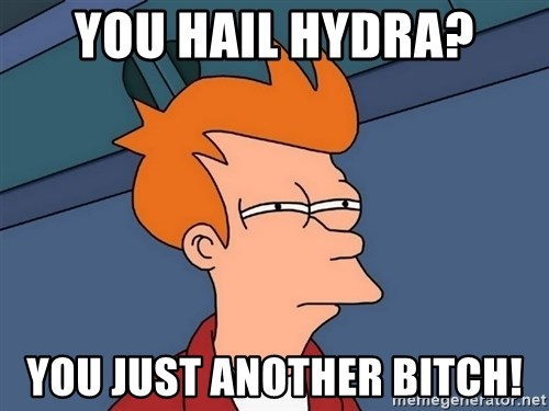Futurama Fry - You Hail Hydra? You just another bitch!