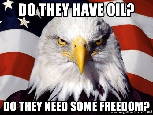 American Pride Eagle - Do They have oil? Do they need some freedom?