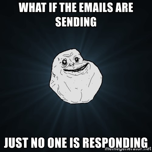Forever Alone - What if the emails are sending Just no one is responding