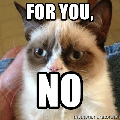 Grumpy Cat  - For you, NO