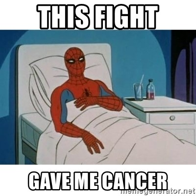 SpiderMan Cancer - This fight Gave me cancer